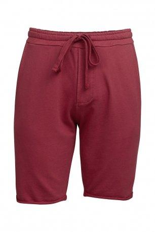 Pantaloni scurti slim grena