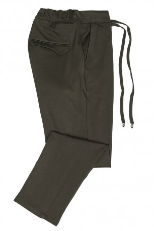 Pantaloni slim olive uni