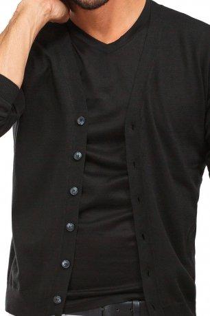Cardigan slim negru