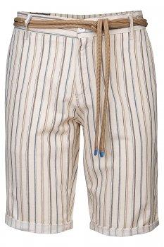 Pantaloni Scurti Bej cu Dungi