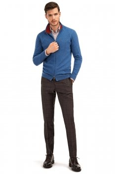 Pantaloni conti slim mov