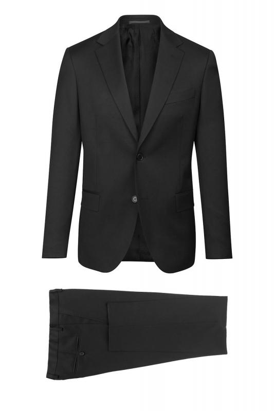 Costum slim conti negru uni