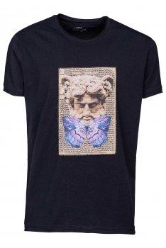 Tricou Bleumarin print