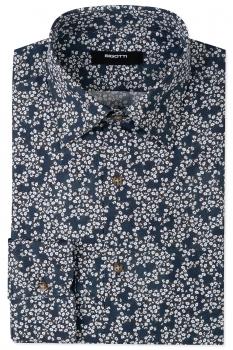 Superslim Navy Floral Shirt