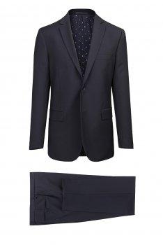 Costum slim erico bleumarin uni