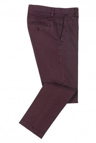 Pantaloni slim vinaccio uni