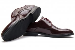 Pantofi ceremonie grena piele naturala