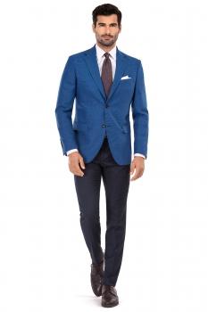 Slim Blue Plain Blazer