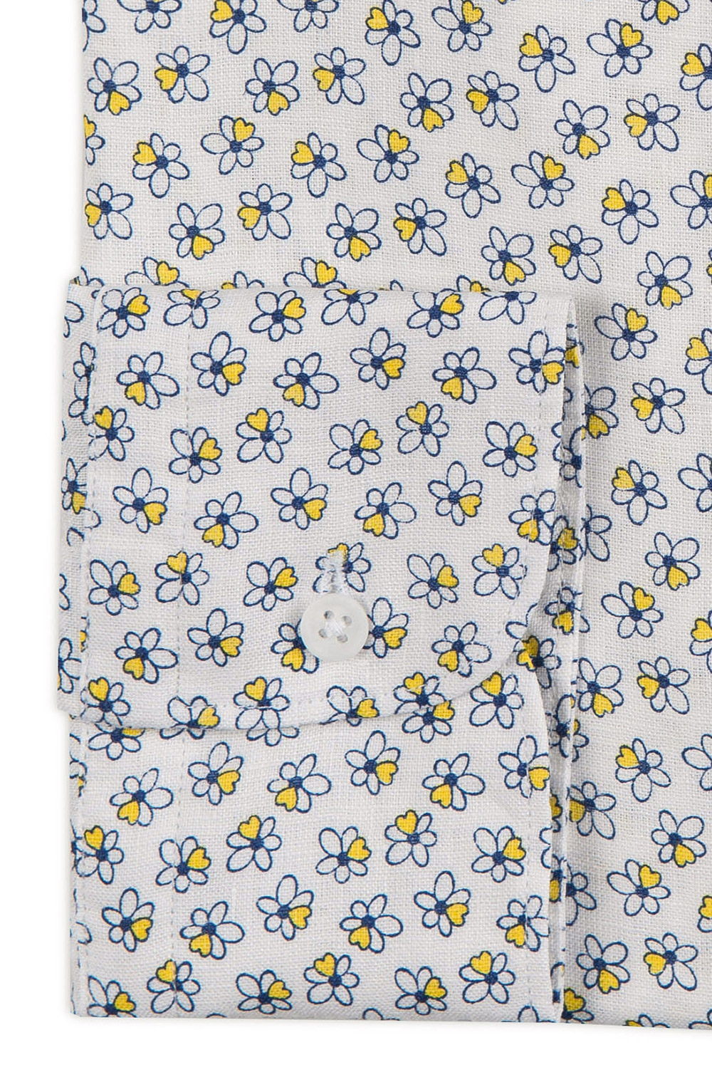 Camasa shaped din in alba print floral 2