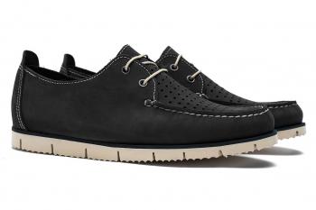 Navy Nubuck leather Shoes