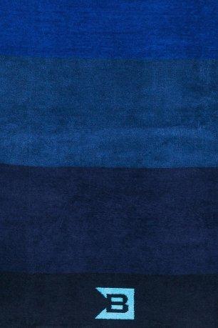 Prosop albastru cu dungi