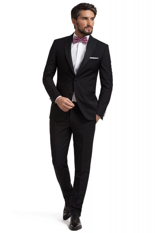Costum slim ares negru uni