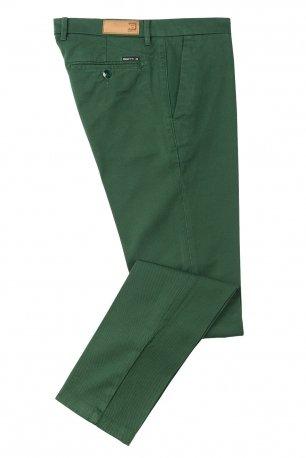 Pantaloni superslim marco verde uni