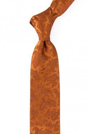 Cravata matase tesuta oranj uni