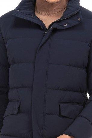 Jacheta  slim bleumarin cu puf