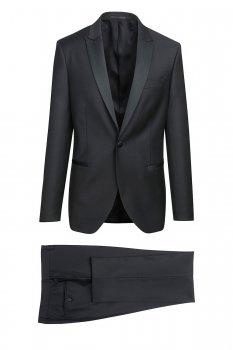 Costum slim mondrian negru uni