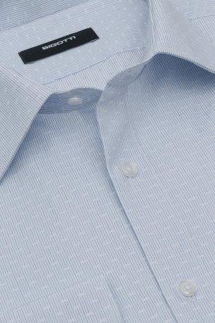 Camasa superslim bleu cu dungi