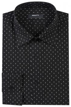 Superslim Black Geometric Shirt