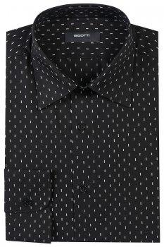 Camasa superslim neagra print geometric