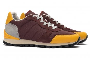 Burgundy Matt suede leather and textil Shoes