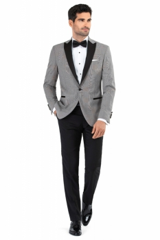 Slim Grey Check Blazer