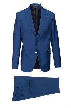 Costum Slim Conti Albastru Uni