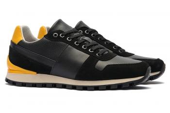 Black Matt suede leather and textil Shoes