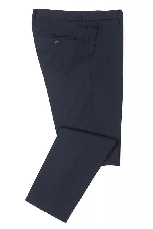 Pantaloni slim conti bleumarin uni