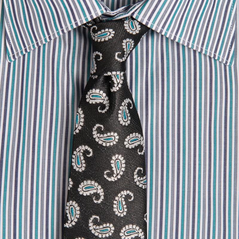 Cravata neagra print floral