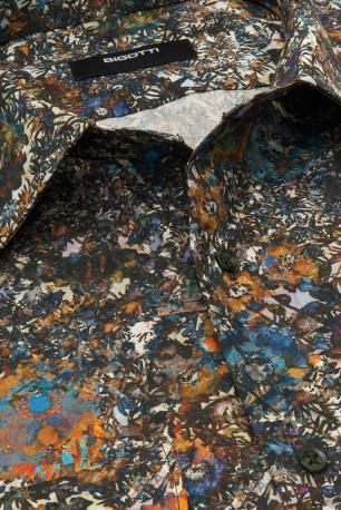 Camasa superslim multicolora print floral