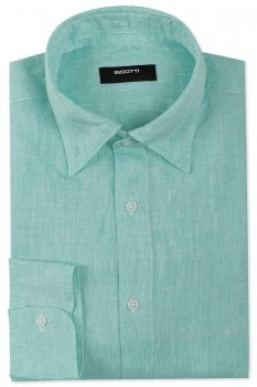 Camasa Shaped din in verde Uni
