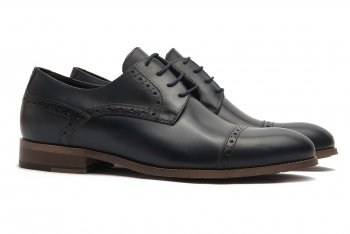 Pantofi bleumarin piele naturala