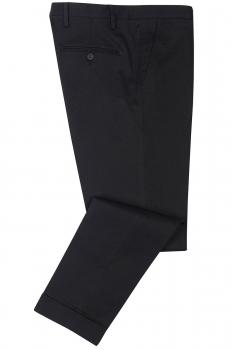 Slim Black Plain Trouser