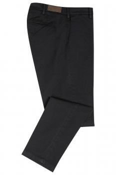 Regular Black Plain Trouser