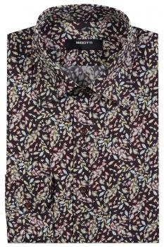 Slim Burgundy Floral Shirt