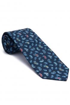 Cravata albastra print floral