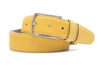 Belt Yellow Nubuck leather