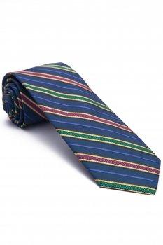 Cravata bleumarin cu dungi