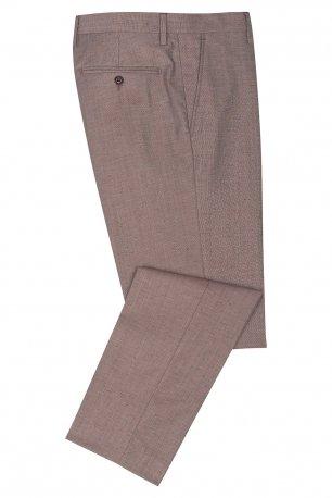 Pantaloni slim conti maro uni
