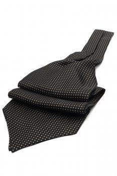 Ascot negru print geometric