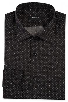 Shaped Black Geometric Shirt