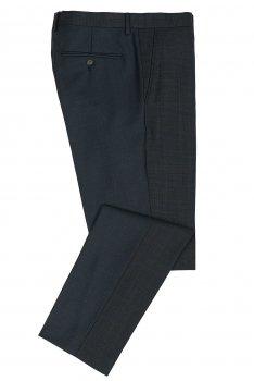 Pantaloni conti slim bleumarin