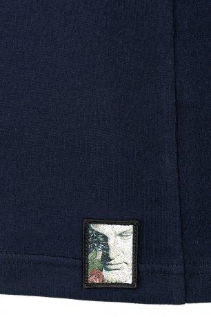 Tricou casual bleumarin uni