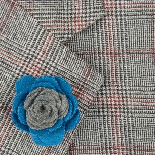 Pin sacou smart casual gri si bleu uni