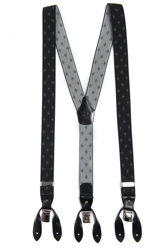 Bretele negre print geometric
