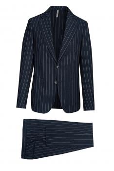 Slim body Navy Stripe Suit