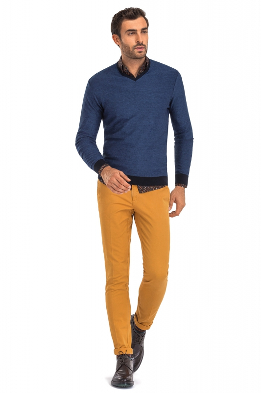 Pantaloni superslim marco galbeni uni