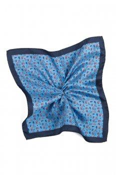 Batista bleu print floral matase tesuta