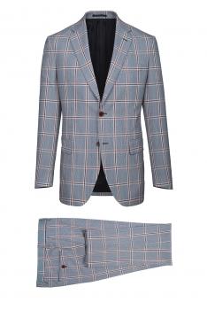 Superslim Light blue Check Suit