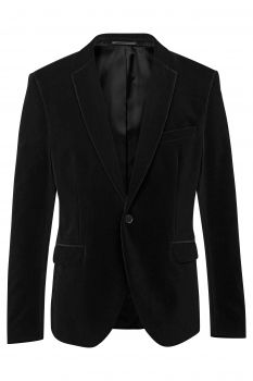 Slim body Black Plain Blazer
